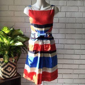Kate Spade | Jillian Striped Bow Waist Dress Linen
